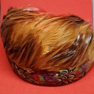 Vintage feather hat, 1960, headband style.